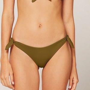 L*SPACE Caruso Side Tie Bikini Bottoms in Moss